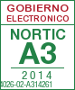 Sello de certificación de la A3:2014 con el NIU 14026-02-A314261