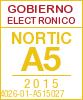 Sello de certificaciÛn de la A5:2015 con el NIU 14026-01-A515027